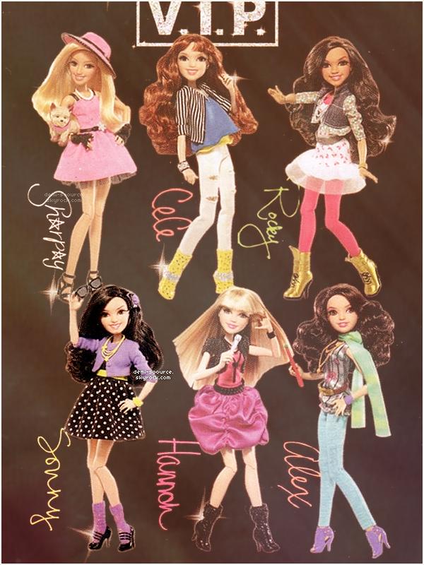 * Demi Lovato a les meilleurs fans ! |  La poupée Sonny !   * Après avoir remporté le prix de la star la plus stylée (voir), c'est un deuxième prix sur le site The Hot Hits qu'elle remporte ... Celui des meilleurs fans parmi une sélection de stars. Elle atteint le top haut la main, avec 38% soit plus de 175 000 votes. Les Lovatics ont donc dépassé les Beliebers, les Smilers, les Selenators et autres. Il y a de quoi être fier de faire partie de cette belle famille que forment les fans de Demi Lovato ! Texte rédigé par mes soins. Aucun emprunt n'est toléré. * Disney lance une nouvelle collection de produits dérivés des séries Disney Channel. Une collection de petites poupées VIP à l'effigie de nos séries préférées ! Elles seront en vente dès cet automne, vous pourrez donc trouver une mini-Sharpay, une Cécé et une Rocky de Shake It Up, notre superbe Sonny Munroe, Hannah Montana ainsi qu'Alex des Sorciers de Waverly Place. Tu aimes ? Les trouves-tu ressemblantes ? Texte rédigé par mes soins. Aucun emprunt n'est toléré.  *