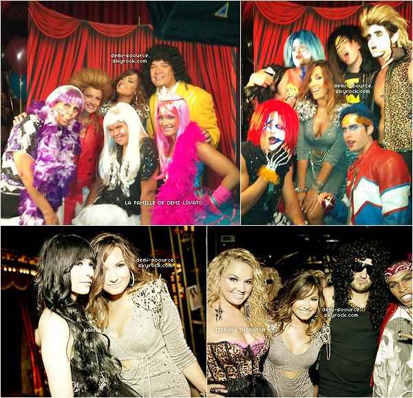 * 18.08.2011 : C'est à l'hôtel Roosevelt que se déroulait la fête    d'anniversaire de Demi Lovato et Hanna Beth. (Los Angeles)  *