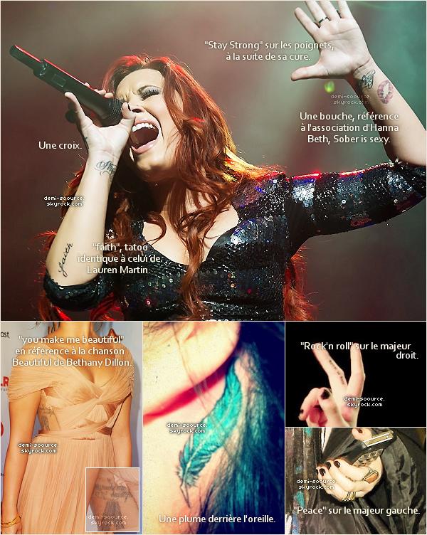 *   Tous les tatouages de Demi Lovato !     *