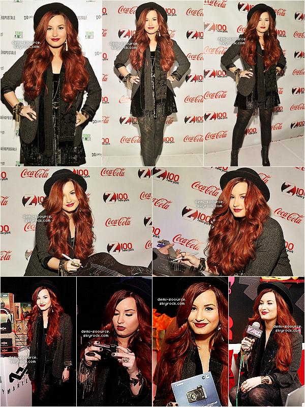 *  09.12.2011 : Demi Lovato a donné un concert au Madison Square Garden. (New York)   VIDEOS DU CONCERT : Give your heart a break, All night long, Skyscraper, Unbroken.    *