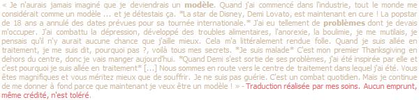 *  « J'ADORE mes nouveaux bracelets, merci Nialaya ! » - Demi Lovato via Twitter.   *