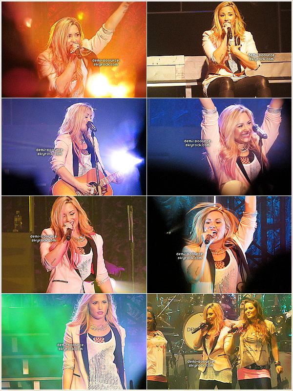 * 17.07.2012 : C'est à San Jose, en Californie, que Demi Lovato s'est produite ce soir-là.   *