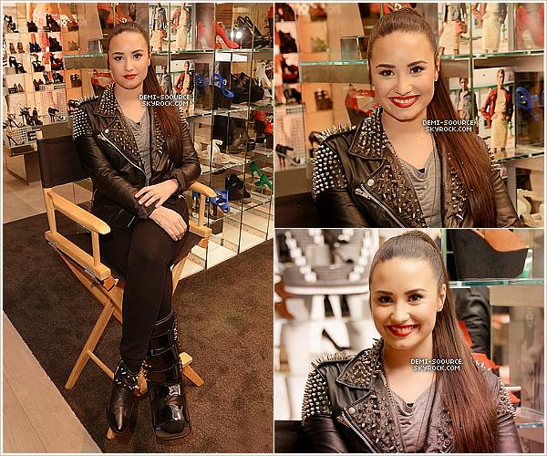 *  14.02.2013 : Demi a assisté à l'ouverture du magasin TopShop au Grove. (LA)             *