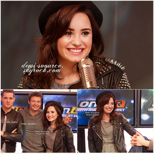 *  26.02.2013 : Demi Lovato a donné une interview à la radio KIIS FM.          *