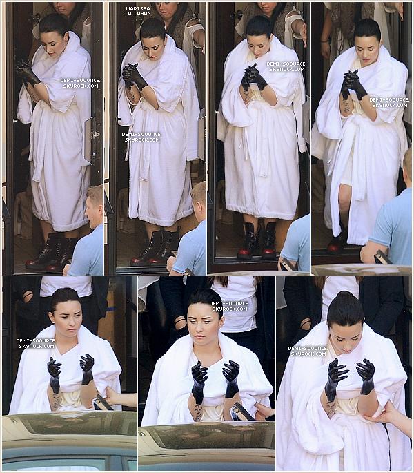 *  14.03.2013 : Demi Lovato a passé la journée sur le set de son clip Heart Attack. (LA)       *