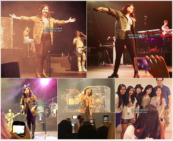 *  20.03.2013 : Demi a continué sa promo à Manille et a donné un concert. (Philippines)     *