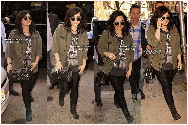 *  10.04.2013 : Demi Lovato arrivant aux studios de l'émission Good Morning America. (NY) *