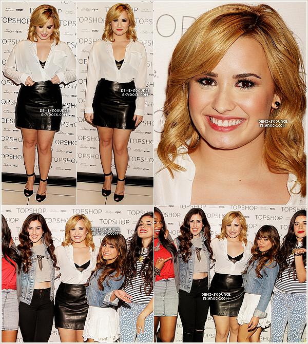 *13.05.2013 : Demi Lovato a eu une journée chargée, à New York City.      *