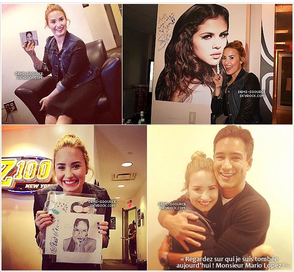*16.05.2013 : Demi s'est rendue dans les studios de la radio Z100. (NYC)      *
