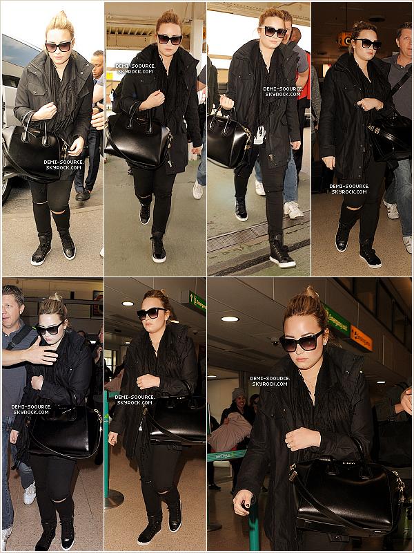 *01.06.2013 : Demi a été vue rejoignant l'aéroport Heathrow, à Londres.        *