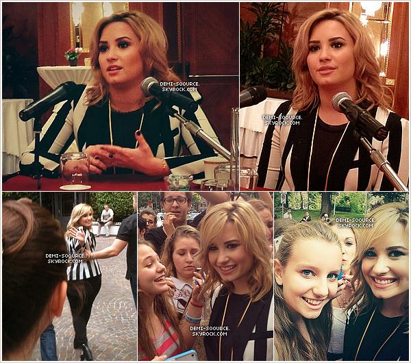 *04.06.2013 : Demi Lovato s'est rendue aux studios de la radio Kiss Kiss, à Milan. (Italie)   *