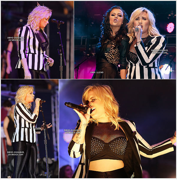 *15.06.2013 : Demi a participé au concert « Pepsi Summer Bash », à Chicago.   Elle a chanté Heart attack, Stay, Made in the USA, GYHAB, Really don't care & Skyscraper. *