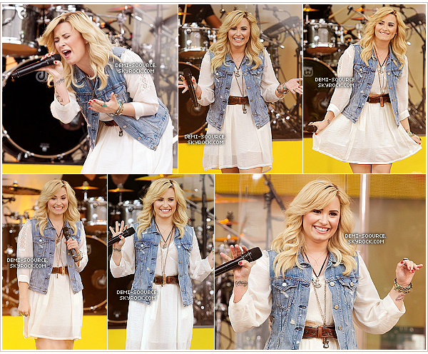 *28.06.2013 : Demi a chanté sur la scène de Good Morning America, à Central Park. (NY)     *