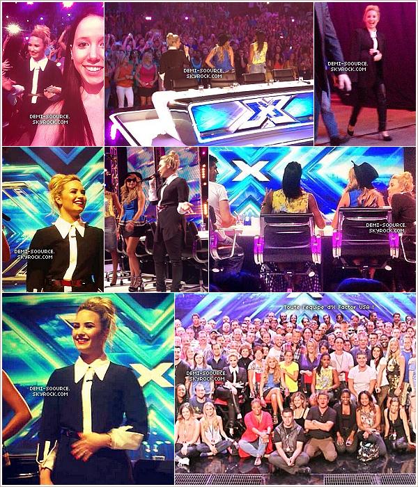 *02.07.2013 : Troisième (et dernier) jour d'auditions pour X Factor USA à Denver.   *
