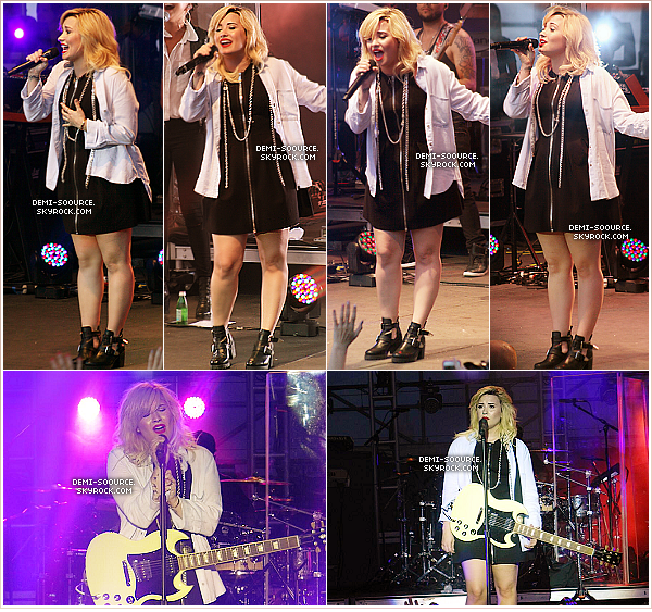 *17.07.2013 : Demi a chanté au concert  Crazy Good Summer à Philadelphie.    *