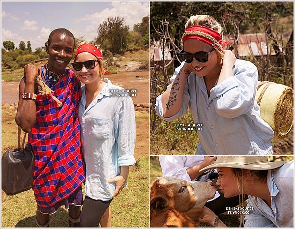 """*  Les photos du voyage de Demi Lovato au Kenya !   ________________________+ article associé.       *  Demi Lovato, sa mère, sa soeur Dallas, et ses amies, ont fait du bénévolat pour l'oeuvre de charité Me to We (partenaire de la fondation Free the children). Elle a fait la connaissance d'élèves locaux, et a contribué à construire une école. Elle a aussi pris part à un safari, ainsi qu'une longue marche de plusieurs heures, pour collecter de l'eau pour les familles. Aussi, pour son anniversaire (20/08), la chorale masculine du Kenya a chanté """"Happy birthday"""", ainsi que deux de ses chansons !___www.demi-soource.skyrock.com      *"""