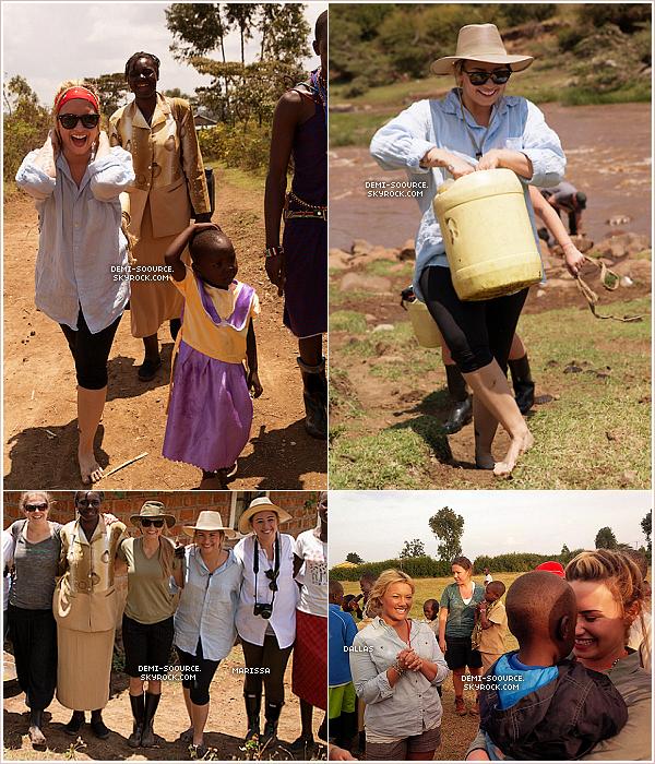*  Plus de photos de Demi Lovato lors de son voyage au Kenya !  *  Pour son anniversaire, des élèves ont offert une carte à Demi, et les locaux lui ont offert un bouc qu'elle a appelé Billy !  Ce jour-là (20 août), Demi et ses amis ont aidé à la construction d'une école dans la communauté de Maasaï (Kenya), et ont transporté 22 kg d'eau sur près de 5 kilomètres._____________________________________www.demi-soource.skyrock.com      *