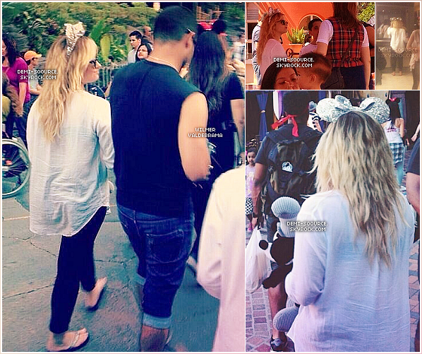 *25.08.2013 : Demi a été vue à Disneyland, avec Wilmer Valderrama. (Californie)  *