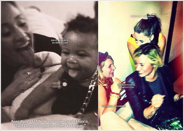 *06.09.2013 : Les amis de Demi lui ont organisé une fête suprise pour  son anniversaire. (LA) ______________Souvenez-vous, elle avait célébré ses 21 ans au Kenya, sans beaucoup de ses amis. *