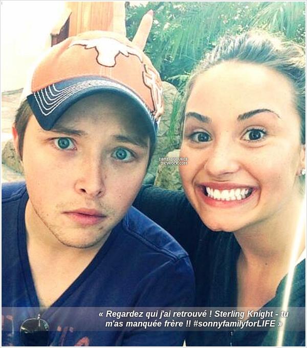 *  Demi Lovato a posté une photo via Twitter, le 13 septembre 2013. _________________Sterling & Demi étaient co-stars dans la série Sonny with a chance.  *