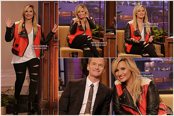 *17.09.2013 : Demi était invitée sur le plateau de « The Tonight Show with Jay Leno ». *