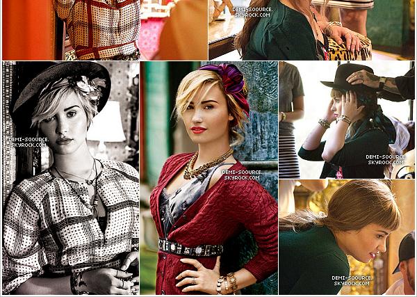 * Demi Lovato fait la couverture du magazine Teen Vogue (novembre 2013) !                *