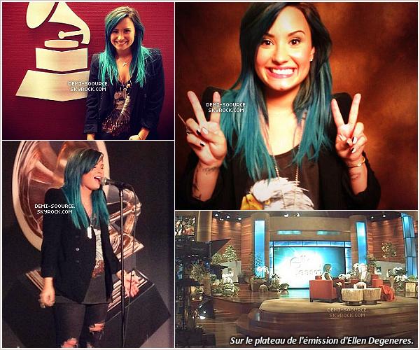 """*04.10.2013 : Demi Lovato s'est rendue aux studios """"Grammys HQ"""".  Elle leur a accordé une interview, ainsi qu'une performance acoustique.__________________ *"""
