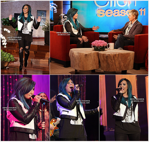 *04.10.2013 :  Demi a passé la soirée avec ses ex co-stars (de Sonny with a chance).  Puis le samedi soir, elle a été vue avec Wilmer Valderrama au restaurant Buffalo Wild Wings. *