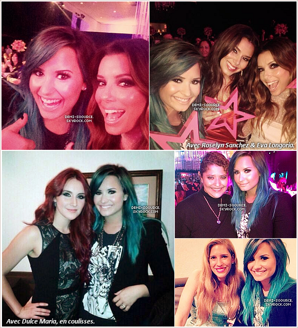*10.10.2013 :  Demi a assisté au 15ème anniversaire de Glamour Magazine, à Mexico. Au cours de la soirée, un Glamour award lui a été remis. (vidéo) _____________  *