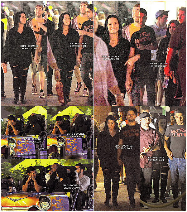 *19.10.2013 : Demi & Wilmer ont été vus au parc Knott's Scary Farm, avec des amis. (LA) _____________________________Ils seraient restés de 22h à 2h du matin. Le couple se serait fait très discret. *