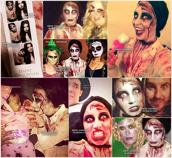 *31.10.2013 : Demi a célebré Halloween avec ses amis et sa famille, à West Hollywood. *