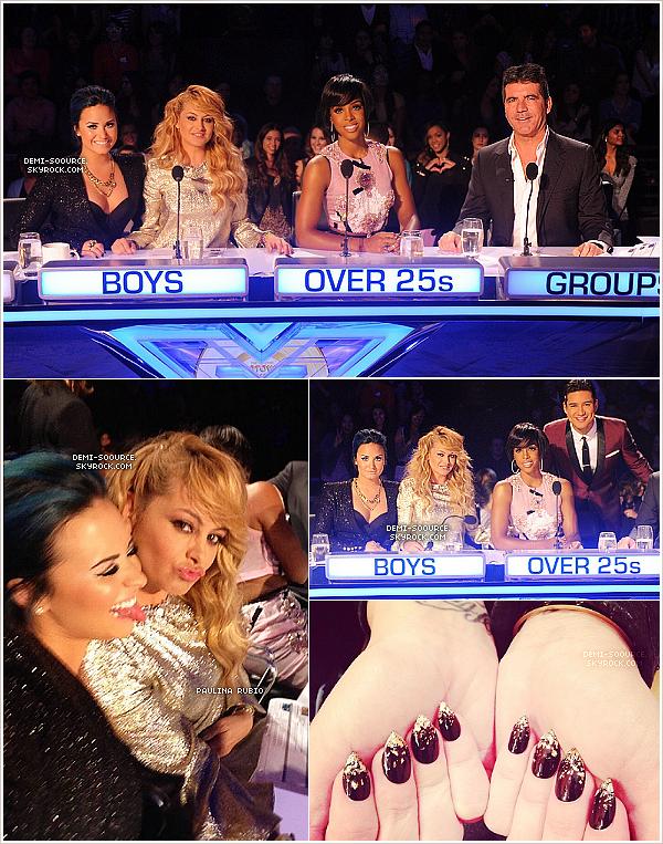 *06.11.2013 : A Los Angeles s'est déroulé le deuxième live show d'X Factor USA. ____________________________________Demain (le 07/11) aura lieu un autre live show avec élimination. *