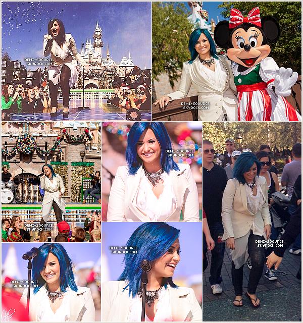 """*09.11.2013 : Demi Lovato a interprété """"Let it go"""" à Disneyland, en Californie. __________________________________Sa performance sera diffusée à la télévision américaine à Noël. *"""