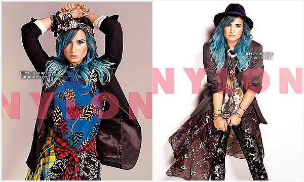 *  Demi Lovato fait la couverture du magazine américain NYLON, pour janvier 2014.  *