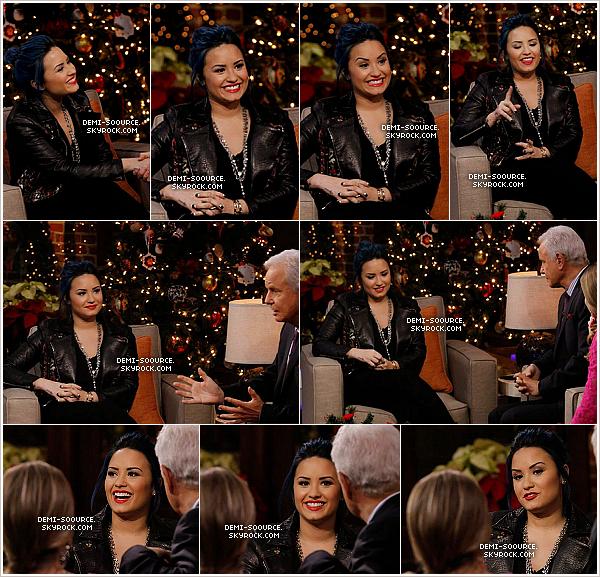 *02.12.2013 : Demi était invitée dans l'émission Good Day LA, ce matin. *