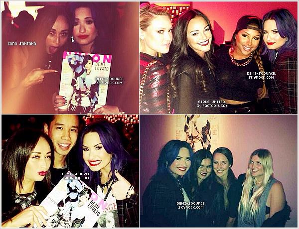 *05.12.2013 : Demi Lovato a assisté à l'évènement organisé par NYLON & McDonalds. (LA) *