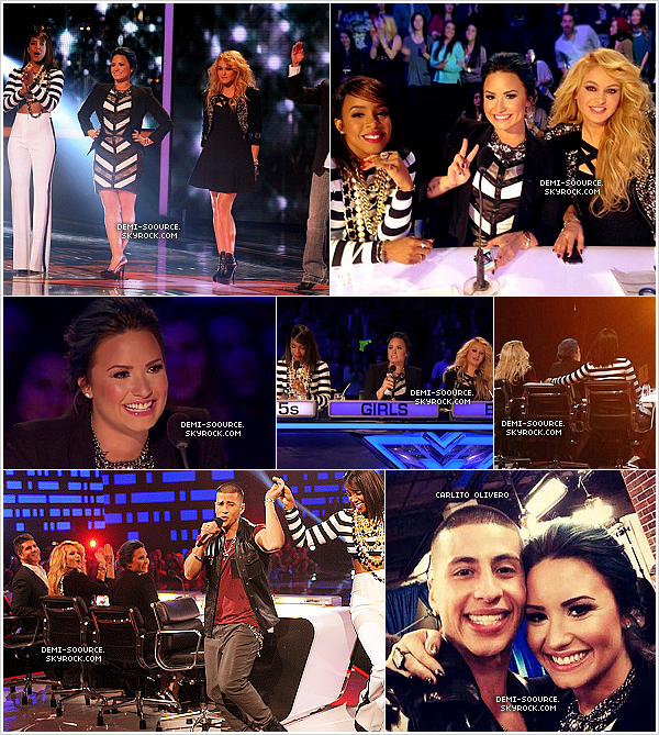 *11.12.2013 : Dans la soirée s'est déroulé un live show d'X Factor USA, à LA. *