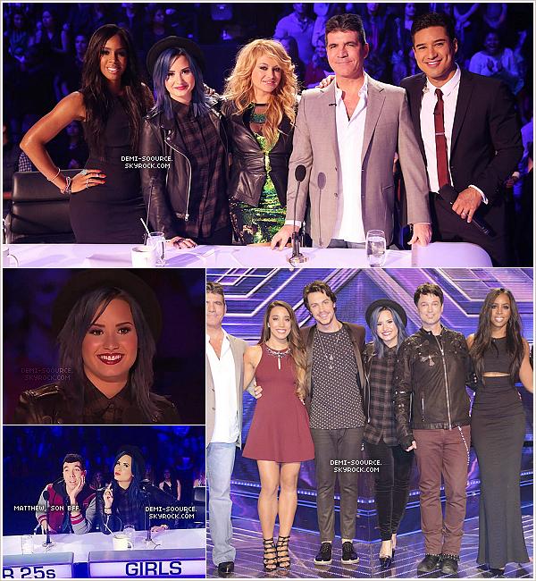 *12.12.2013 : La demi-finale d'X Factor USA s'est déroulée à Los Angeles. *