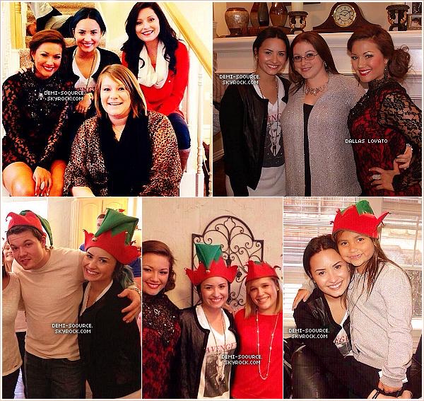 *25.12.2013 : Demi a passé Noël avec sa famille et des amis, au Texas. *
