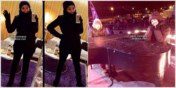 *31.12.2013 : Demi a chanté pour le réveillon du jour de l'an, à Niagara Falls. (Canada) *