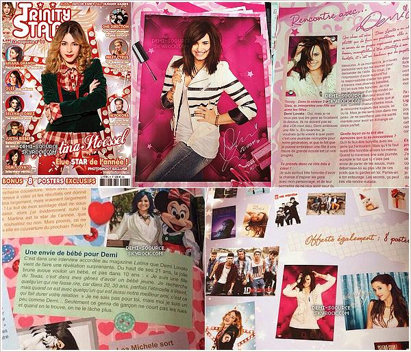 * Demi Lovato dans le magazine français Trinity Stars (janvier 2014).  Le photoshoot a été réalisé début 2013.________________________   *