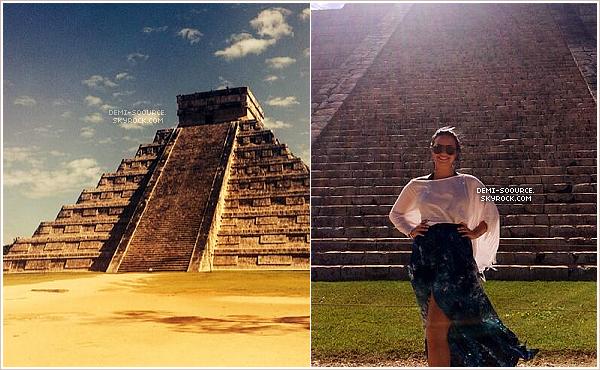 *  Demi Lovato a récemment visité les ruines Maya, à Chichén Itzá, au Mexique.    *