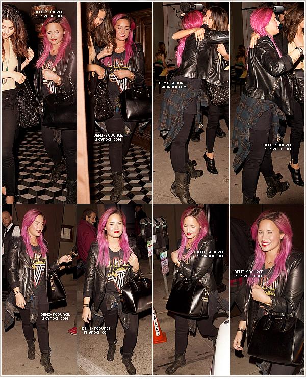 "*23.01.2014 : Demi a dîné avec Selena Gomez au restaurant ""Craig's"". (CA) *"