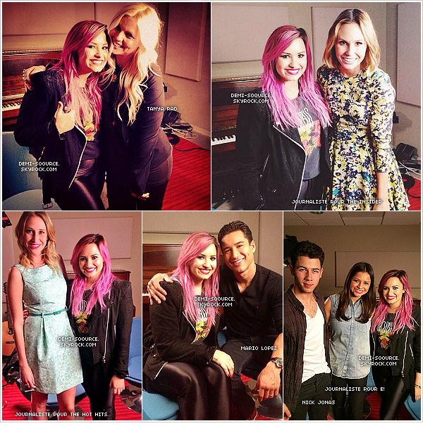 *  05.02.14 : Demi a parlé à la presse, en backstage, avant son concert à Los Angeles.   *