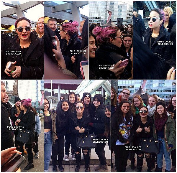 *  08.02.14 : Demi Lovato a été vue à l'aéroport de Los Angeles.  Elle s'est envolée pour le Canada pour son premier show du Neon Lights Tour.   *