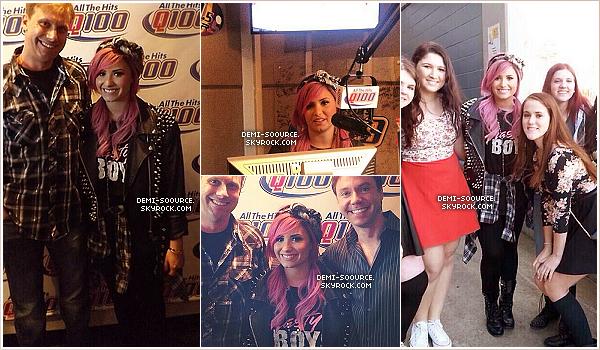 *  Demi Lovato a posté deux photos sur Twitter, le 21 février. (Atlanta, GA)    *