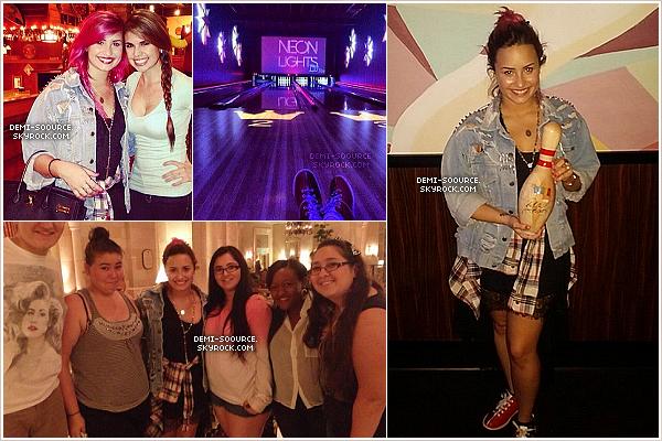 *  24.02.2014 : Demi a dîné dans un restaurant mexicain, puis est allée au bowling. (Orlando, FL)   *