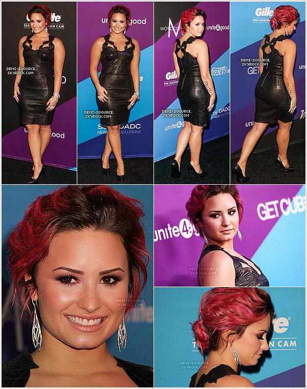 """*  27.02.2014 : Demi a assisté au gala de charité  """"Unite4:Humanity"""", à Los Angeles.   *"""
