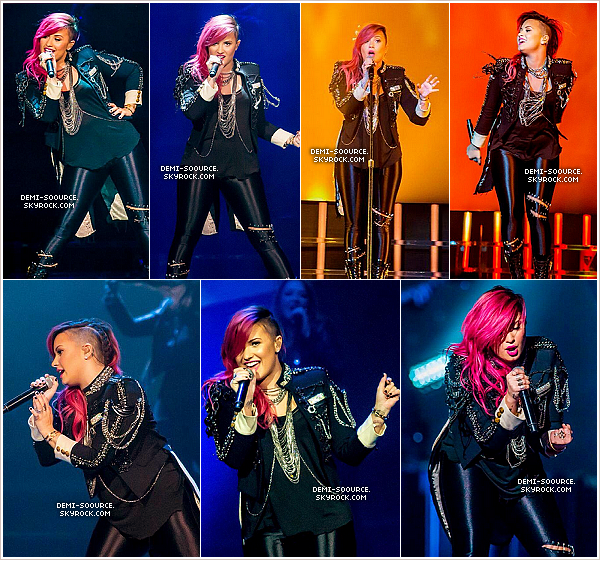 *  13.03.2014 : Demi a donné un show à Auburn Hils (à Detroit), dans le Michigan.    *