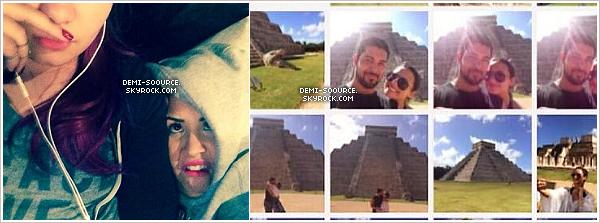 *  Demi a posté une photo d'elle et sa petite soeur Madison, datant de début mars.  A droite, des photos de Demi et Wilmer aux ruines Maya, au Mexique, en janvier dernier. (article associé) *